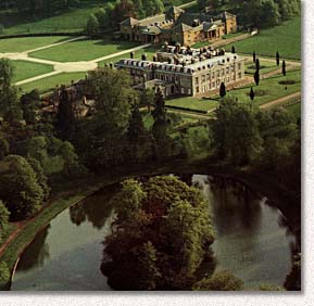 Princess Diana's brother now occupies the house, which was in serious dilapidation when they were younger and first moved in.  No expense has been spared in renovating it in recent years. Diana is buried on the island in the lake shown.