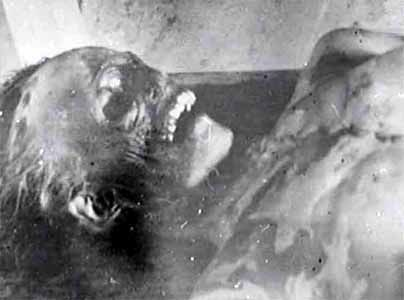 One of the bodies discovered burnt and crushed from the inside in below zero temperatures.