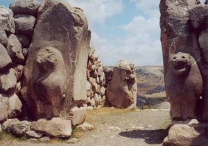 Hittite Lions Gate. Hittites were some of the first on record to battle the tribes of Gog.
