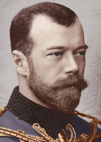 Tsar Nicolas of Russia with strange snake ears.