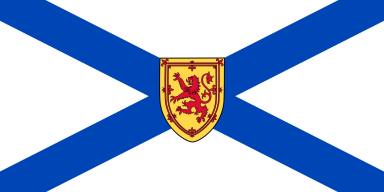 Saltire Flag of Nova Scotia with the Lion of the Tribe of Benjamin.  Saul is of the tribe of Benjamin, the righteous brother of Joseph.