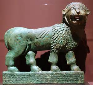 Lion of Yemen at the Louvre.