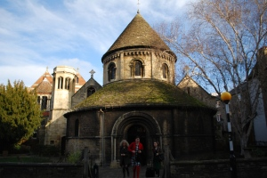 Round Catholic Church in Cambridge England built 1130 AD
