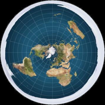 modern+flat+earth+map