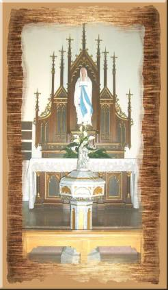 The old altar in the Loreauville Catholic Church, St. Joseph's Church.