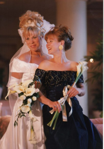 A photo of the fake wedding. The girl on the right is Cheryl Mills.