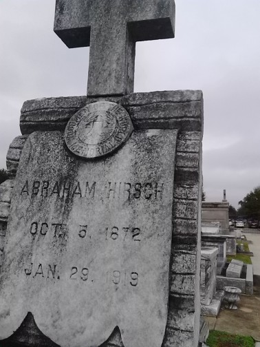 Abrahm Hirsch buried in Lafayette, La.
