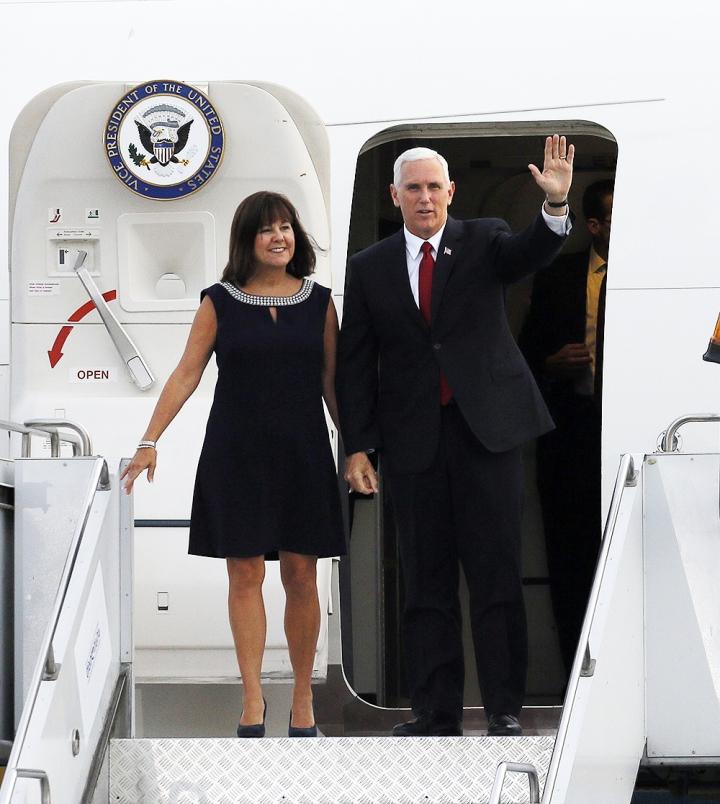 US Vice President Mike Pence visits Georgia, Tbilisi - 31 Jul 2017