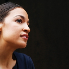 Mandatory Credit: Photo by Mark Lennihan/AP/REX/Shutterstock (9728865g) Alexandria Ocasio-Cortez, the winner of a Democratic Congressional primary in New York, talks to the media, in New York. Ocasio-Cortez, 28, upset U.S. Rep. Joe Crowley in Tuesday's election Primary Ocasio Cortez, New York, USA - 27 Jun 2018